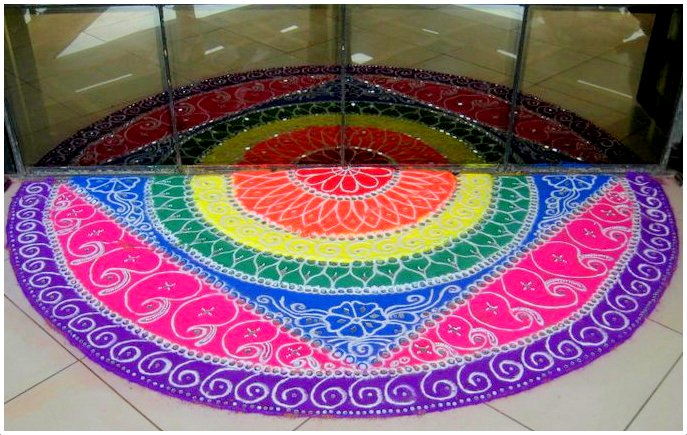 Rangoli with Reflection